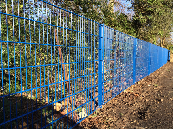 868 Mesh Panel Fencing Blue RAL 5010