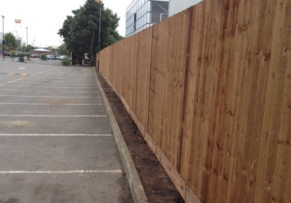 Close Boarded Car Park Fencing London