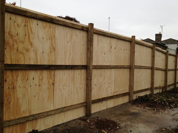 Timber Site Hoarding Fencing Supplied And Fitted By